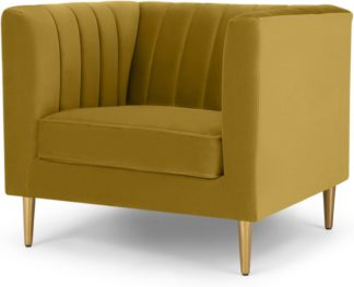 An Image of Amicie Armchair, Vintage Gold Velvet
