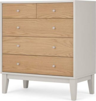 An Image of Ralph Chest of Drawers, Oak & Mushroom Grey