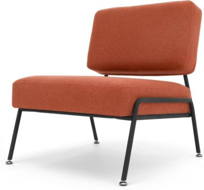 An Image of Knox Accent Armchair, Retro Orange