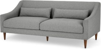 An Image of Herton 3 Seater Sofa, Mountain Grey