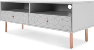 An Image of Hedra TV Stand, Copper and Grey