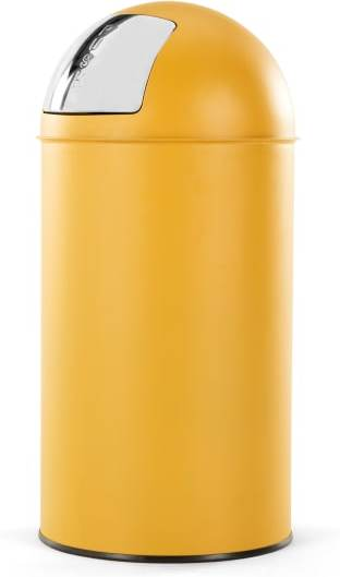 An Image of Rollo Push Bin 50l, Yellow