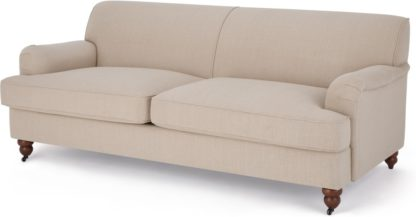 An Image of Orson 3 Seater Sofa, Natural Weave