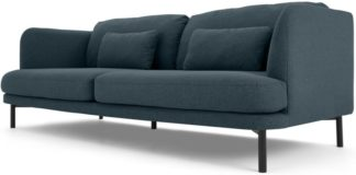 An Image of Herman 3 Seater Sofa, Aegean Blue