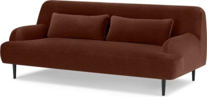 An Image of Giselle 2 Seater Sofa, Warm Caramel Velvet