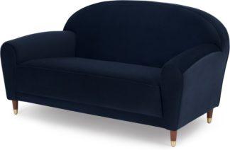An Image of Carlton 2 Seater Sofa, Ink Blue Velvet