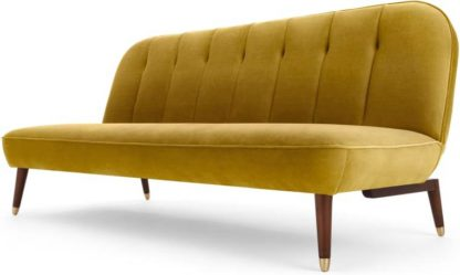 An Image of Margot Click Clack Sofa Bed, Vintage Gold Velvet