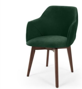 An Image of Lule Office Chair, Pine Green Velvet