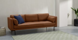 An Image of Harlow 3 Seater Sofa, Denver Tan Leather