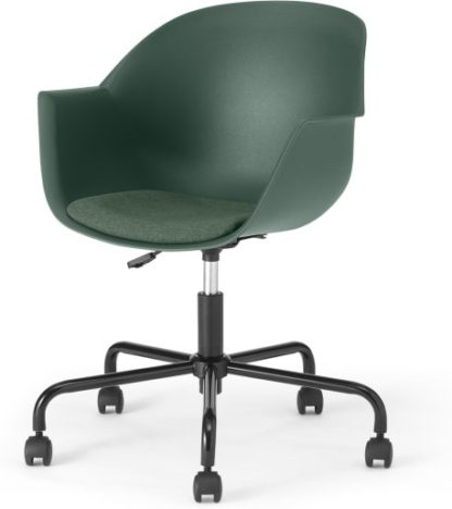 An Image of Kenna Tub Office Chair, Dark Green