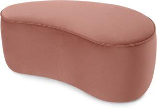 An Image of Kooper Pouffe, Blush Pink Velvet