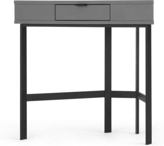 An Image of Marcell Compact Corner Desk, Grey & Black