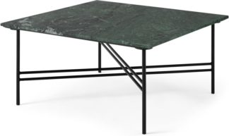 An Image of Ailish Square Coffee Table, Green Marble