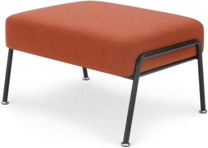 An Image of Knox Footstool, Retro Orange
