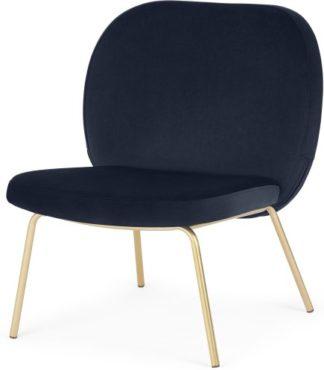 An Image of Safia Accent Armchair, Royal Blue Velvet