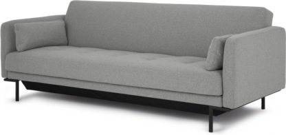 An Image of Harlow Sofa Bed with Storage, Mountain Grey