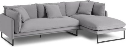 An Image of Malini Right Hand Facing Chaise End Sofa, Mineral Cotton & Linen Mix