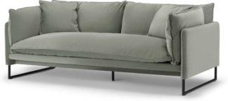 An Image of Malini 3 Seater Sofa, Sage Green Velvet