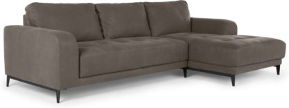 An Image of Luciano Right Hand Facing Corner Sofa, Texas Grey Leather