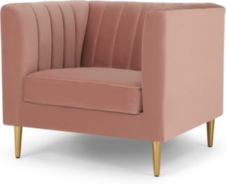 An Image of Amicie Armchair, Blush Pink Velvet