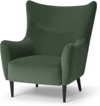 An Image of Bridget Accent Armchair, Elm Green Velvet