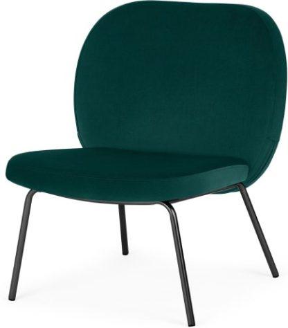 An Image of Safia Accent Armchair, Seafoam Blue Velvet