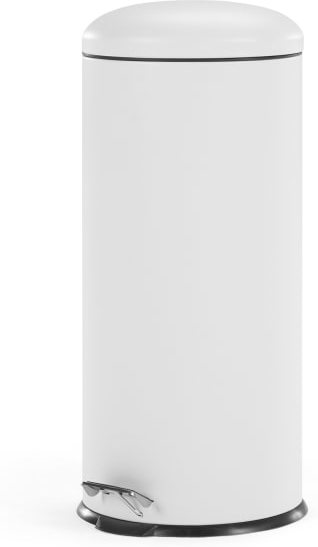 An Image of Joss 30L Domed Pedal Bin, White