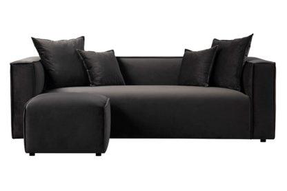 An Image of Max Three Seat Corner Sofa - Carbon