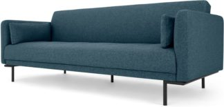 An Image of Harlow Click Clack Sofa Bed, Orleans Blue