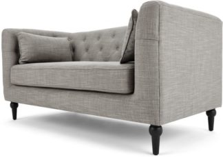An Image of Flynn 2 Seater Sofa, Grey Linen Mix