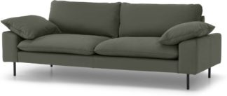 An Image of Fallyn 3 Seater Sofa, Nubuck Loden Leather