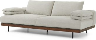 An Image of Zita 3 Seater Sofa, Kyoto Oyster