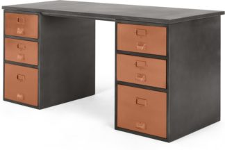 An Image of Stow Storage Desk, Copper