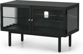 An Image of Marden Media Unit, Charcoal Grey and Glass