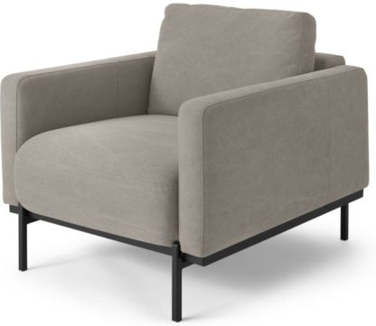 An Image of Jarrod Armchair, Washed Grey Cotton