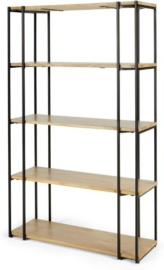 An Image of Khalida Bookcase, Mango Wood and Black