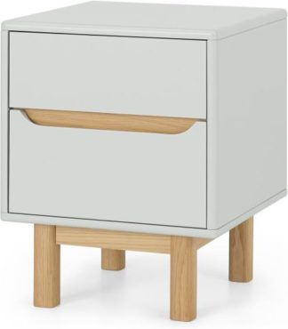 An Image of Jayden Bedside Table, Grey & Oak