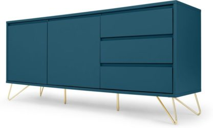 An Image of Elona Sideboard, Teal and Brass
