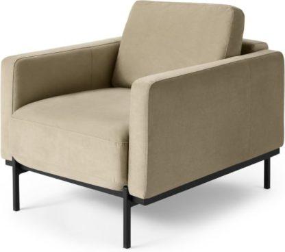 An Image of Jarrod Armchair, Plush Taupe Velvet