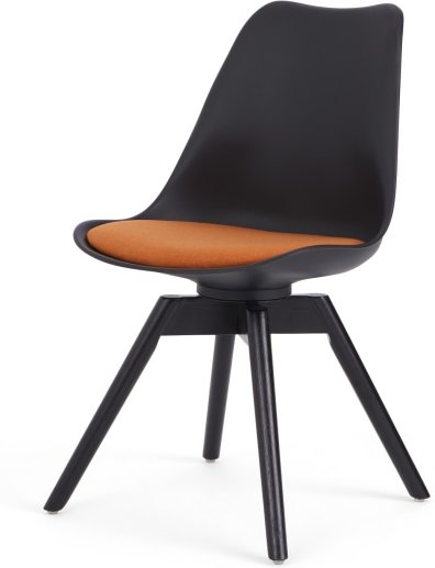 An Image of Thelma office chair, Black and Orange