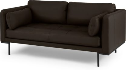 An Image of Harlow Large 2 Seater Sofa, Denver Dark Brown Leather