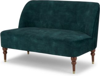 An Image of Harpo 2 Seater Sofa, Nile Blue Velvet