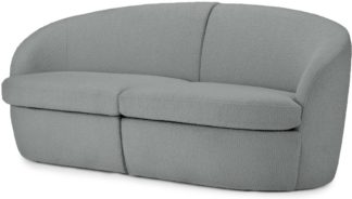 An Image of Reisa 2 Seater Sofa, Steel Boucle