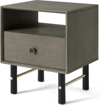 An Image of Liaka Bedside Table, Grey Mango Wood
