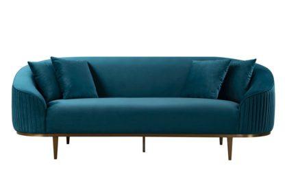 An Image of Ella Three Seat Sofa - Peacock