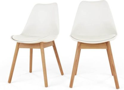 An Image of Set of 2 Thelma Dining Chairs, Oak and White