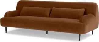 An Image of Giselle 3 Seater Sofa, Cinnamon Velvet