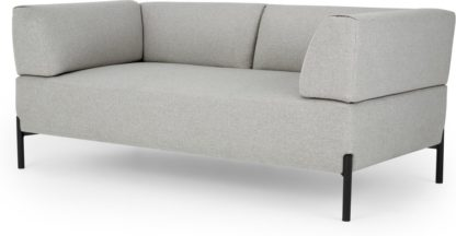 An Image of MADE Essentials Kiva 2 Seater Sofa, Hail Grey