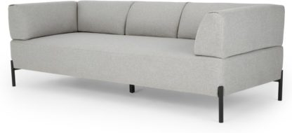 An Image of MADE Essentials Kiva 3 Seater Sofa, Hail Grey