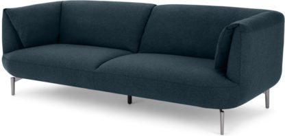 An Image of Inka 3 Seater Sofa, Aegean Blue
